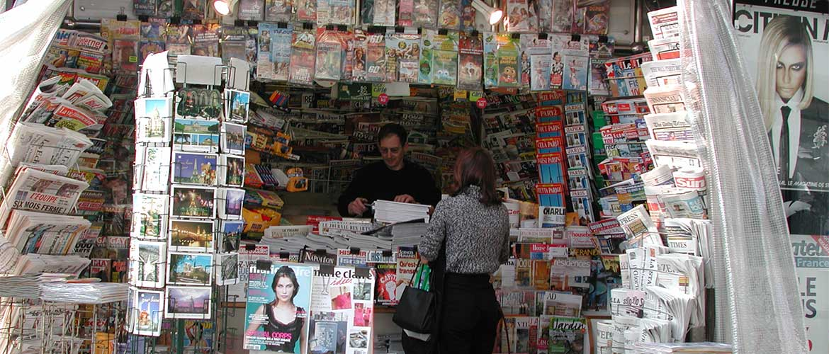 French newsstand